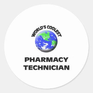 World's Coolest Pharmacy Technician Classic Round Sticker