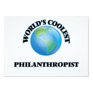 "World's coolest Philanthropist 5"" X 7"" Invitation Card"