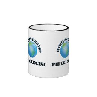 World's coolest Philologist Ringer Coffee Mug