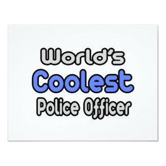 World's Coolest Police Officer Invitations