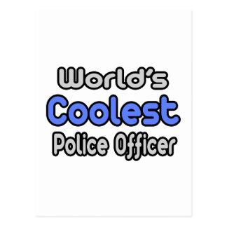 World's Coolest Police Officer Postcard
