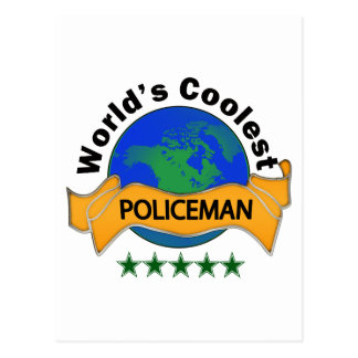 World's Coolest Policeman Post Card