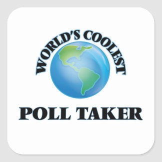 World's coolest Poll Taker Stickers