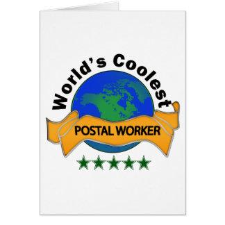 World's Coolest Postal Worker Card