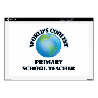 "World's coolest Primary School Teacher Decal For 17"" Laptop"