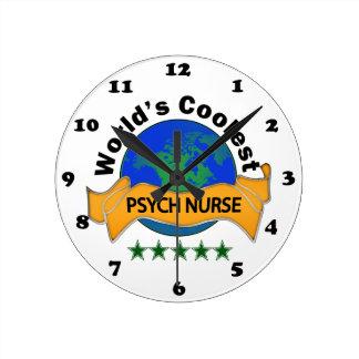 World's Coolest Psych Nurse Round Clocks