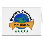 World's Coolest Psych Nurse Greeting Card