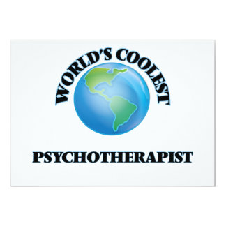 World's coolest Psychotherapist 5x7 Paper Invitation Card
