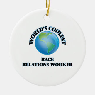 World's coolest Race Relations Worker Christmas Tree Ornament