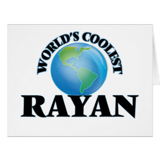 World's Coolest Rayan Large Greeting Card