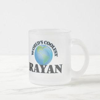 World's Coolest Rayan 10 Oz Frosted Glass Coffee Mug