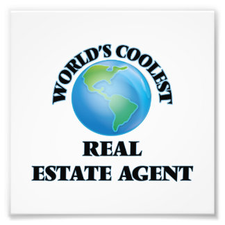 World's coolest Real Estate Agent Photographic Print