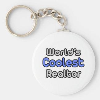 World's Coolest Realtor Basic Round Button Keychain