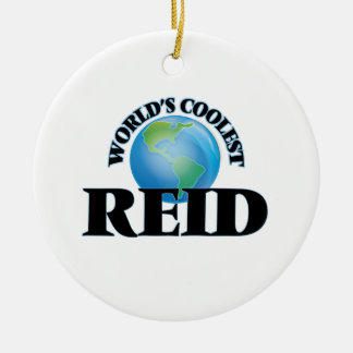 World's Coolest Reid Double-Sided Ceramic Round Christmas Ornament