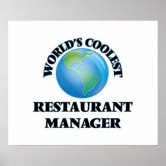 World's coolest Restaurant Manager Poster
