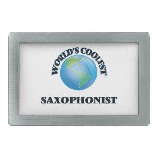 World's coolest Saxophonist Rectangular Belt Buckles