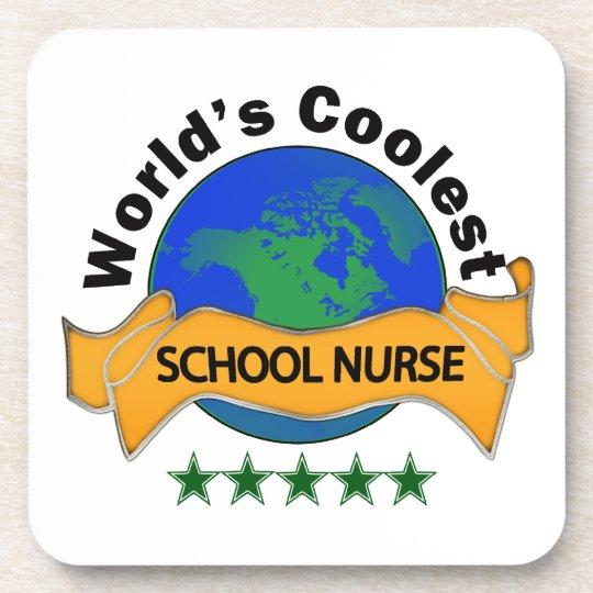 World's Coolest School Nurse Coaster
