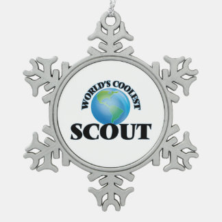 World's coolest Scout Snowflake Pewter Christmas Ornament