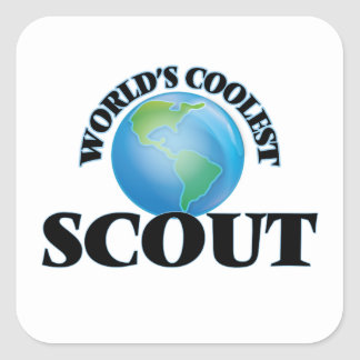 World's coolest Scout Square Sticker