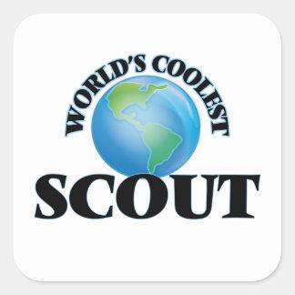 World's coolest Scout Square Sticker