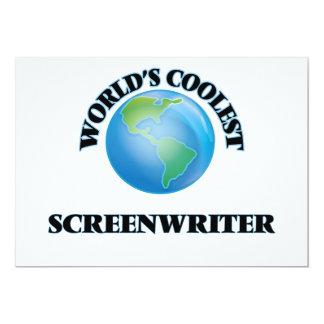 "World's coolest Screenwriter 5"" X 7"" Invitation Card"