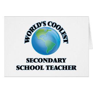 World's coolest Secondary School Teacher Cards