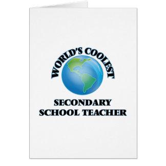 World's coolest Secondary School Teacher Greeting Card