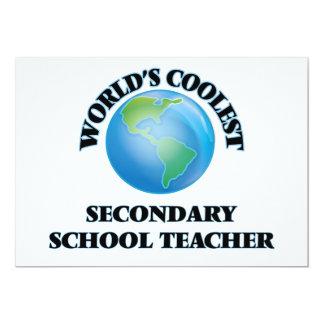 World's coolest Secondary School Teacher Invitations