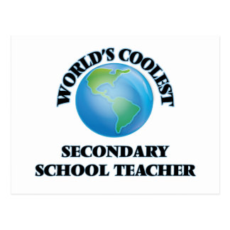 World's coolest Secondary School Teacher Post Card