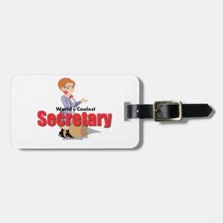 World's Coolest Secretary Luggage Tag