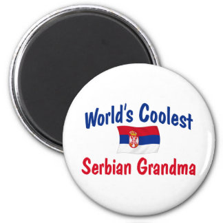 World's Coolest Serbian Grandma 2 Inch Round Magnet