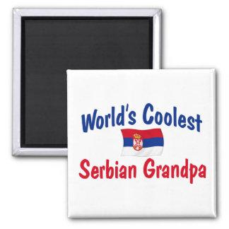 World's Coolest Serbian Grandpa 2 Inch Square Magnet