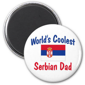 World's Coolest Serbian Mom 2 Inch Round Magnet