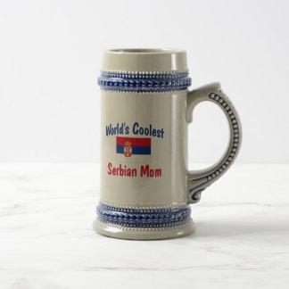 World's Coolest Serbian Mom 18 Oz Beer Stein