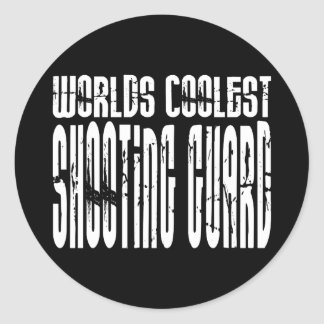 Worlds Coolest Shooting Guard Classic Round Sticker