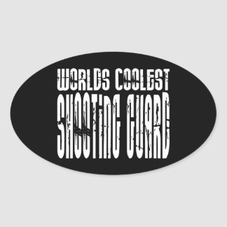 Worlds Coolest Shooting Guard Oval Sticker