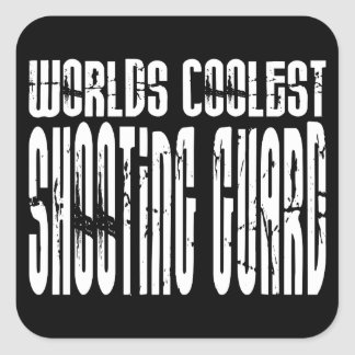 Worlds Coolest Shooting Guard Square Sticker