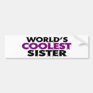 Worlds Coolest Sister Bumper Sticker