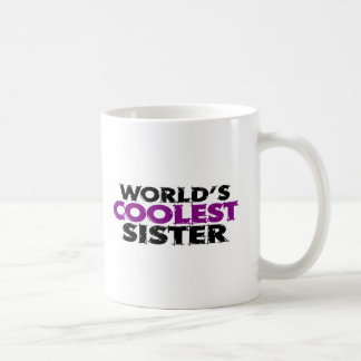 Worlds Coolest Sister Classic White Coffee Mug