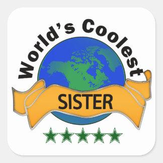 World's Coolest Sister Square Sticker