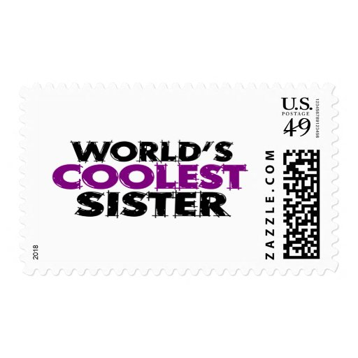 Worlds Coolest Sister Stamp