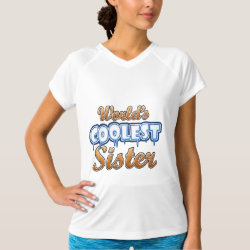 Women's Champion Double-Dry V-Neck T-Shirt with World's Coolest Sister design
