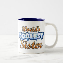 Two-Tone Mug with World's Coolest Sister design