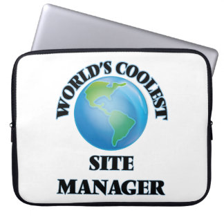 World's coolest Site Manager Laptop Computer Sleeves