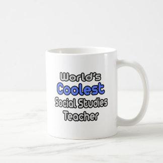 World's Coolest Social Studies Teacher Coffee Mug