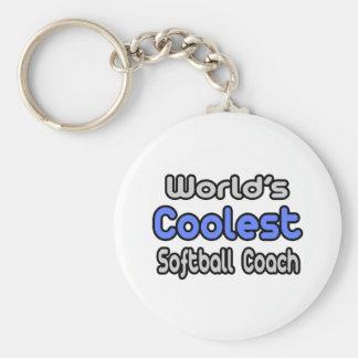 World's Coolest Softball Coach Keychain