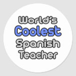 World's Coolest Spanish Teacher Stickers