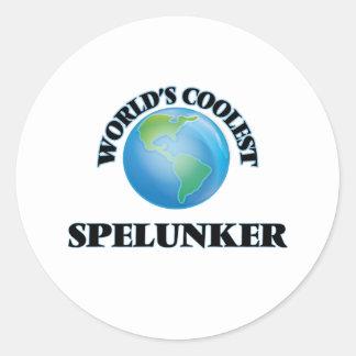 World's coolest Spelunker Round Stickers