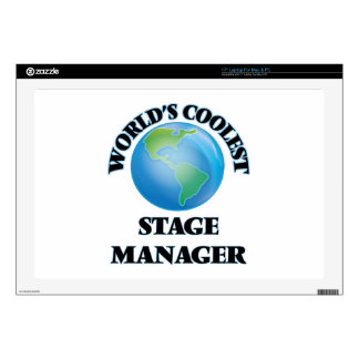 "World's coolest Stage Manager 17"" Laptop Decal"
