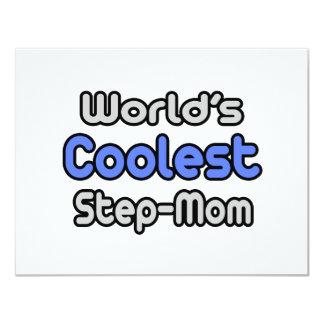 World's Coolest Step-Mom 4.25x5.5 Paper Invitation Card
